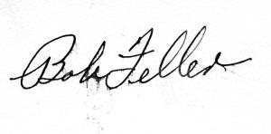 Bob Feller Signature