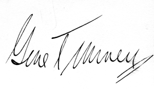 Gene Tunney Signature