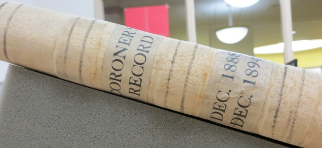 Spine of Coroner's Record, 1888-1894:
