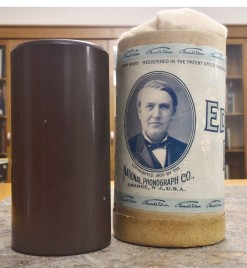 Left to Right: Wax Cylinder and Canister (Thomas Edison), n.d.