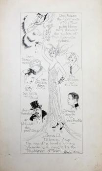 Helen Wallace 1926 Movie Sketch