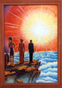"""1963 """"The Ultimate Frontier"""" Stelle Painting"""