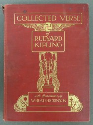Collected Verse of Rudyard Kipling with Illustrations by W. Heath Robinson. The book was published in 1910.