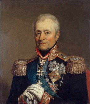 Portrait of Lord Benningsen by George Dawe. The portrait is located in the Military Gallery of the Winter Palace in St. Petersburg, Russia. The date is unknown.
