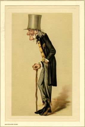 Caricature of Sir Richard Owen. The illustrator and date are unknown.
