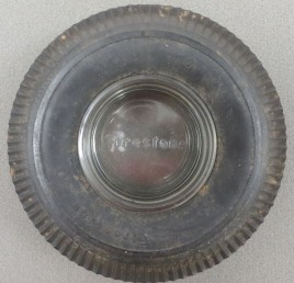 Top shot of a Firestone ashtray, n.d.