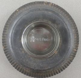 Top shot of a Firestone ashtray, n.d.