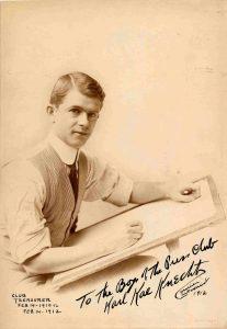Club Treasurer: February 14, 1910 to February 14, 1912. Karl Kae Knecht, Courier Cartoonist, 1912.