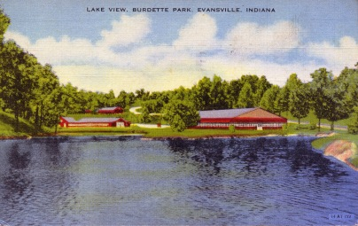 Lake View, Burdette Park, Evansville, Indiana. Circa 1947. (Photograph Credit: University Archives and Special Collection, RH 033-444).