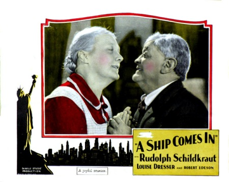 "Movie poster of ""A Ship Comes In"", starring Louise Dresser and Robert Edeson, 1928. Credit: IMDb.com"