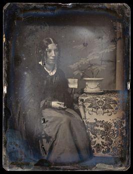 A daguerreotype of Harriet Beecher Stowe, c. 1850. Photograph Credit: https://www.biography.com/news/uncle-toms-cabin-harriet-beecher-stowe