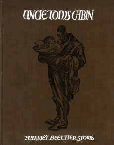"Front cover of ""Uncle Tom's Cabin"" by Harriet Beecher Stowe, 1929. Credit: University Archives and Special Collections"