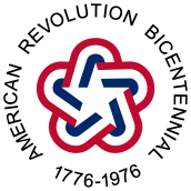 Red, White, and Blue Logo of the American Revolution Bicentennial, 1776-1976. Credit: Wikipedia