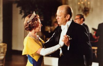 Left to Right: Queen Elizabeth II of England, dancing with then-U.S. President, Gerald Ford, during a state visit, 1976. Credit: https://geraldrfordfoundation.org/centennial/media/1976-bicentennial-celebrations/
