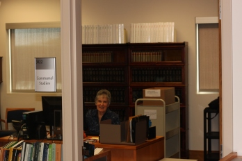 The Center for Communal Studies is located at RL 3022, inside of the University Archives & Special Collections. For help, speak with administrative assistant, Marilyn Thielman, 2017.