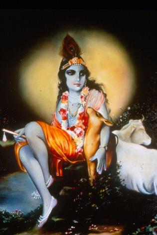 Devotee art of Krishna, c. 1980 at New Vrindaban, West Virginia. Source: Robert Rosenthal (CS 665-1202)
