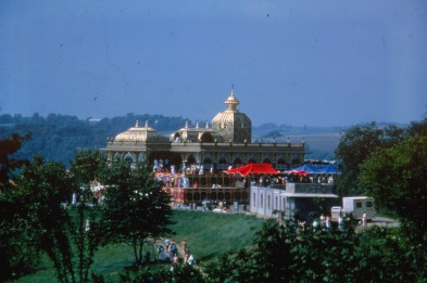 Palace of Gold festival at New Vrindaban in Moundsville, West Virginia, c. 1985. Source: Robert Rosenthal (CS 665-6789)
