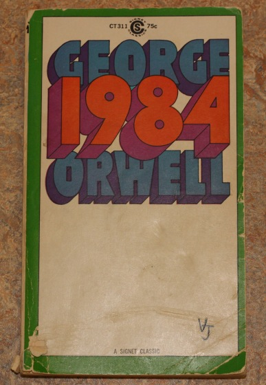 Book Cover of George Orwell's novel, 1984, 1961. Source: James Wethington