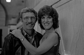 Evansville Courier photographer Sonny Brown was a friend of Hee Haw cast member Grandpa Jones, who was born in Niagara, KY (in Henderson County---just across the river from Evansville, IN) and thus was able to visit the set and take lots of backstage photographs. Here are Ruth Buzzi and Sonny Brown, 1978. Source: University Archives and Special Collections (MSS 228-3237)