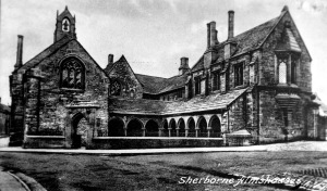 Sherborne Almshouse from the Don Blair Collection, 1936. Source: University Archives and Special Collection (MSS 247-5185)