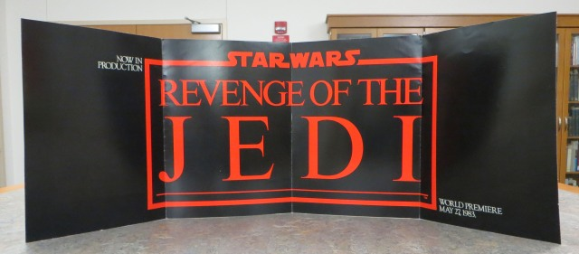 Inside insert of the movie poster to Star Wars Episode VI: Revenge of the Jedi, 1983. Source: Jeanne Suhrenreich (MSS 118-6)