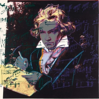 Print of Beethoven by Andy Warhol, 1987. This item is located in the USI Art Collection.