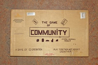 """The Game of Community"" board game, 1972. The game is located in the Communal Studies Reading Room in RL 3024."