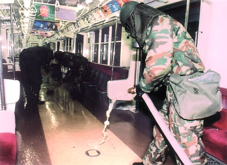 In Japan, the Aum Shinrikyo cult released the chemical agent sarin in a terrorist attack on the Tokyo subway. About five thousand people became sick and a dozen were killed, 1995. Source: https://www.opcw.org/news/article/the-sarin-gas-attack-in-japan-and-the-related-forensic-investigation/