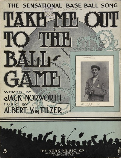 "Song cover of ""Take Me Out to the Ball Game"", 1908. Source: Library of Congress (https://www.loc.gov/resource/ihas.200033481.0/?sp=1)"