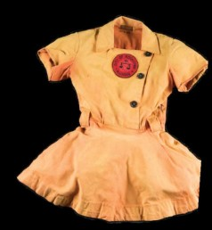 Baseball uniform of the Rockford Peaches, 2018. Source: Library of Congress Magazine (July/August 2018), p. 6.