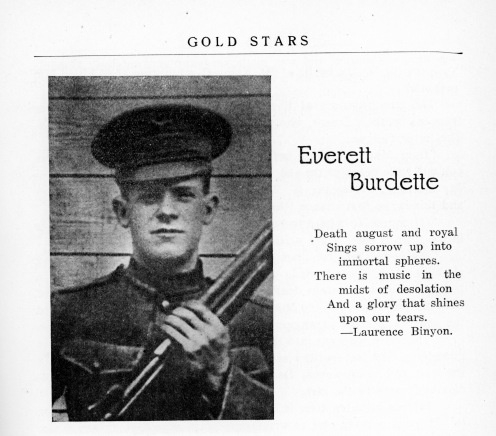 Everett Burdette, namesake of Evansville's Burdette Park, 1920. Source: Sons of Men, 1920 (Book).