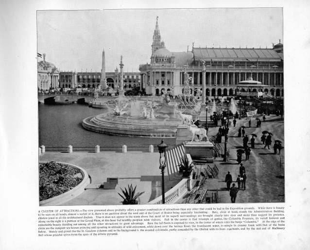 Center of the Exposition grounds, 1893. Source: The Banner's Portfolio of Photographs