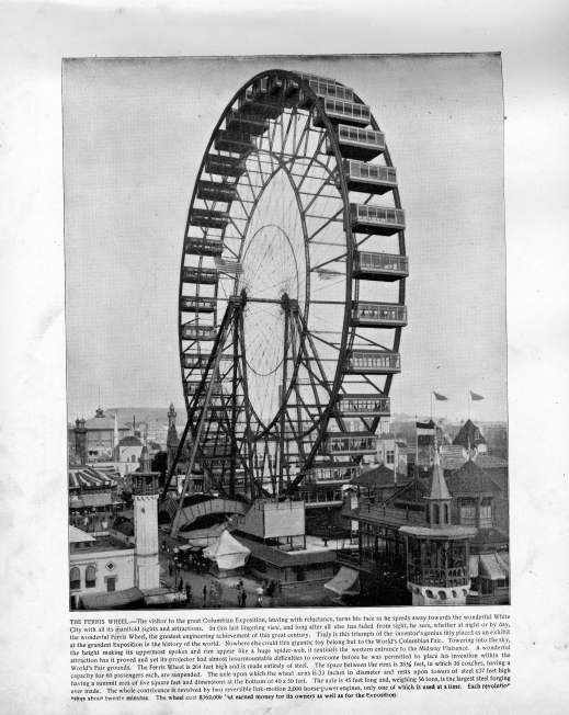 Ferris wheel, 1893. Source: The Banner's Portfolio of Photographs.