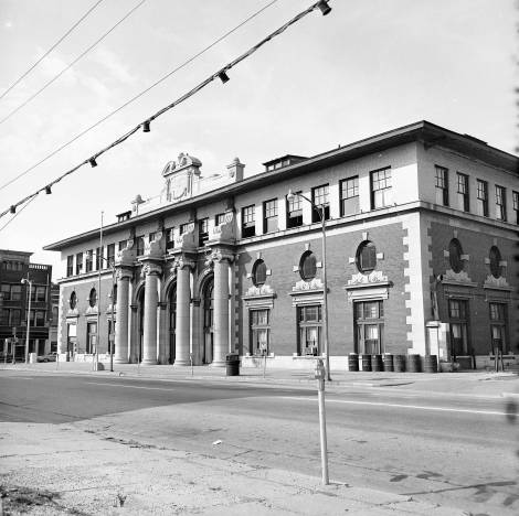 Central & Eastern Illinois (C.&E.I.) railroad station in Evansville, Indiana, 1965. Source: Sonny Brown collection, MSS 228-0645.