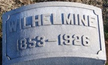 Tombstone of Wilhelmine Reitz (1853-1926), n.d. Source: Findagrave.com.