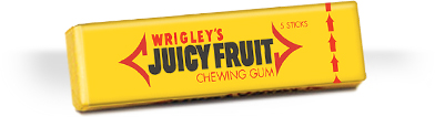 Wrigley's Juicy Fruit chewing gum, 2017. Source: Wikimedia.org/