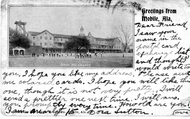 Postcard from Mobile, AL, 1906. Source: MSS 010-005.