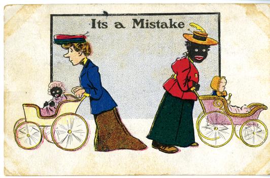 Racial postcard, 1907, Source: Postcard collection, MSS 010-453.