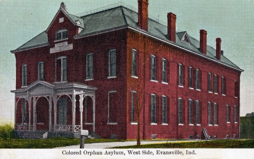 Postcard of the Colored Orphan Asylum in Evansville, Indiana, c. 1883. Source: Evansville Postcards collection, RH 033-084.