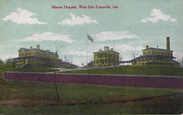 Marine Hospital in Evansville, Indiana, c. 1927. Source: Evansville Postcards collection, RH 033-237.