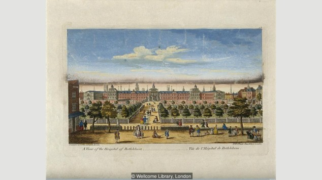 When it was rebuilt in 1676, Bethlem looked more like Versailles than a mental hospital (Credit: Wellcome Library, London)