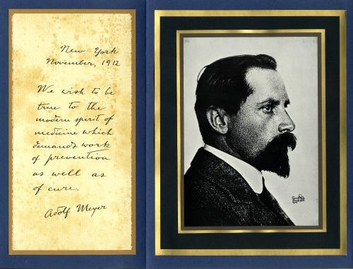 Adolf Meyer (1866-1950). Source: Roche Laboratories, MSS 085-1-5.