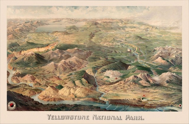 Historic map of Yellowstone National Park, 1904. Source: https://bit.ly/2RS9H6H