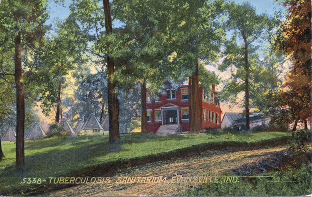 Boehne Camp Hospital in Evansville, Indiana, c. 1912. Source: Regional Postcards collection, RH 033-234.