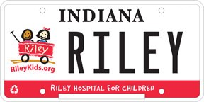 3. Riley Hospital License Plate