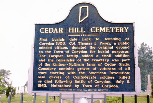 Cedar Hill Cemetery historical marker, 1986. Source: Regional Photographs collection, RP 031-089.