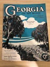 1. Georgia on My Mind Sheet Music
