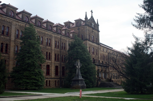 Saint Meinrad Archabbey seminary in Spencer County, Indiana, 2009. Source: Donald Janzen collection, CS 662, 191dc-0021.