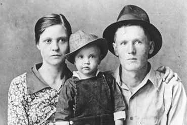Family picture of Gladys (left), Elvis (middle), and Vernon (right), n.d. Source: https://www.graceland.com/early-childhood