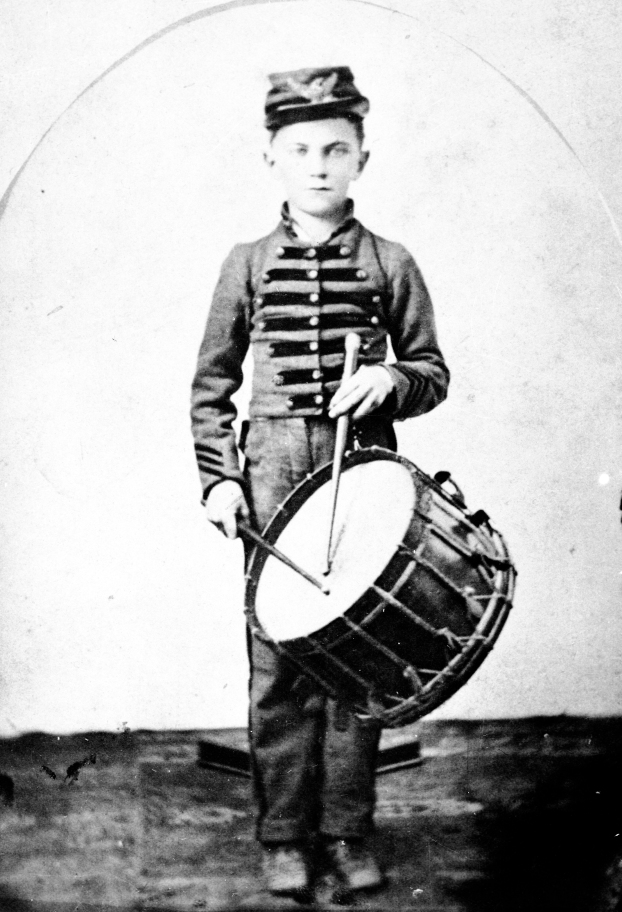 John W. Messick of Evansville, Indiana (youngest Union soldier in the Civil War), c. 1865. Source: MSS 264-0960.